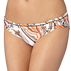 J by Jasper Conran - Designer orange marble printed bikini bottoms
