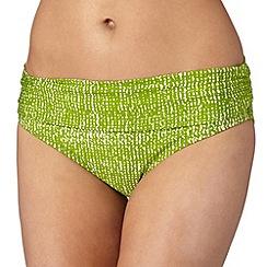J by Jasper Conran - Designer green textured bikini bottoms