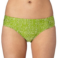 J by Jasper Conran - Designer green ruched bikini bottoms