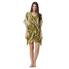J by Jasper Conran - Designer green banana leaf kaftan