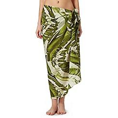 J by Jasper Conran - Designer green banana leaf sarong