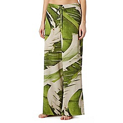 J by Jasper Conran - Designer green banana leaf palazzo pants