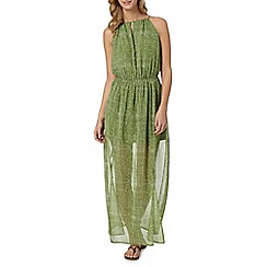 J by Jasper Conran - Designer green printed maxi dress