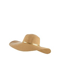 J by Jasper Conran - Designer natural strand bow floppy hat
