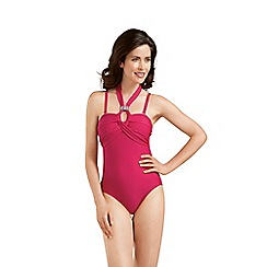 Amoena - Red halter-neck mastectomy swimsuit