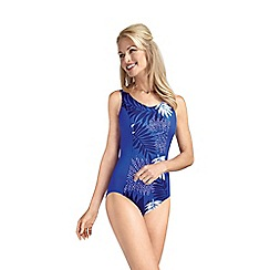 Amoena - Figure-flattering tropical leaf print mastectomy swimsuit