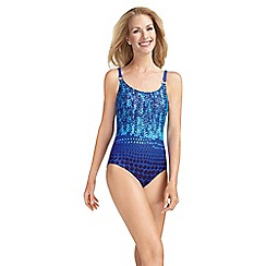 Amoena - Azure blue and turquoise print mastectomy swimsuit