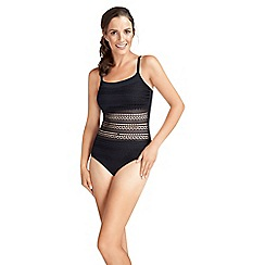 Amoena - Black crotched front mastectomy swimsuit