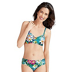 Amoena - Tropical print mastectomy bikini top
