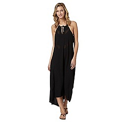 J by Jasper Conran - Designer black mesh insert maxi dress