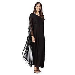 J by Jasper Conran - Designer one shoulder black maxi dress