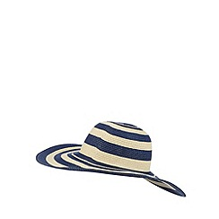 Beach Collection - Navy stripe sun hat