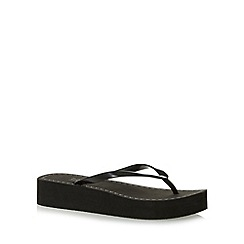 Beach Collection - Black mid wedge sandals