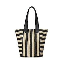 Beach Collection - Cream monochrome striped shopper bag