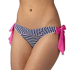 Floozie by Frost French - Purple textured stripe bikini bottoms