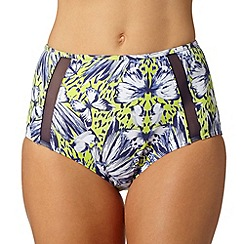 Gorgeous DD+ - Lime butterfly high waist bikini bottoms