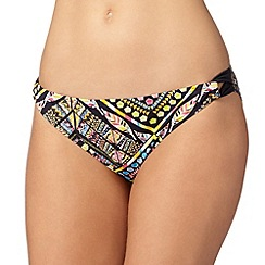 Gorgeous DD+ - Black tribal looped side bikini bottoms