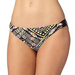 Gorgeous DD+ - Black tribal looped side bikini bottoms