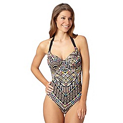 Gorgeous DD+ - Black tribal underwired swimsuit