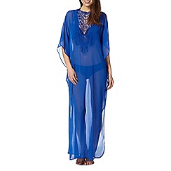 Butterfly by Matthew Williamson - Designer blue lace sheer dress