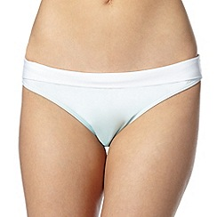 Reger by Janet Reger - Designer aqua ombre folded bikini bottoms