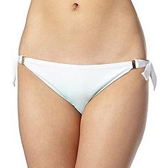 Reger by Janet Reger - Designer aqua ombre bunny tie bikini bottoms