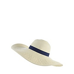 Reger by Janet Reger - Cream plait detail floppy hat