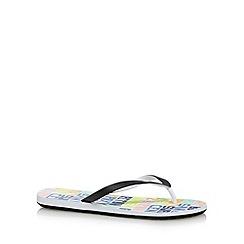 Roxy - White script flip flops