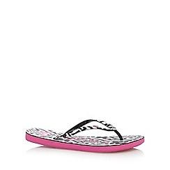 Roxy - Black aztec print flip flops