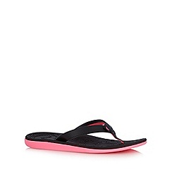 Roxy - Black half fabric flip flops