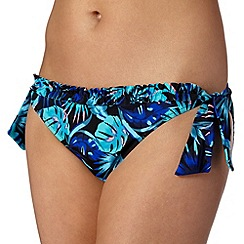 Ultimate Beach - Blue tropic bunny tie side bikini bottoms