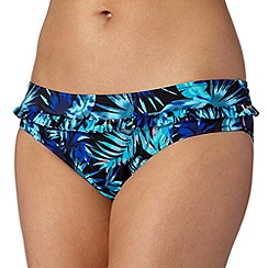 Ultimate Beach - Blue tropic shorts bikini bottoms