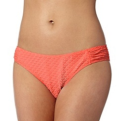 Ultimate Beach - Pink textured bikini bottoms