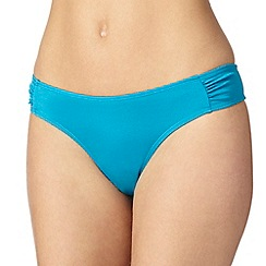 Ultimate Beach - Turquoise plain bikini bottoms