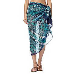 Reger by Janet Reger - Blue animal print sarong