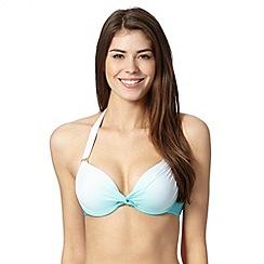 Reger by Janet Reger - Designer aqua ombre underwired bikini top