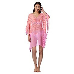 Butterfly by Matthew Williamson - Designer pink pom pom kaftan