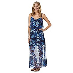 Butterfly by Matthew Williamson - Designer navy brush stroke maxi dress