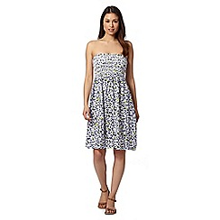 Gorgeous DD+ - White animal print bandeau dress