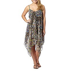 Gorgeous DD+ - Black tribal print beach dress