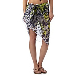 Gorgeous DD+ - Lime butterflies sarong