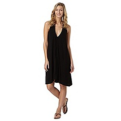 Beach Collection - Black ruched front dress