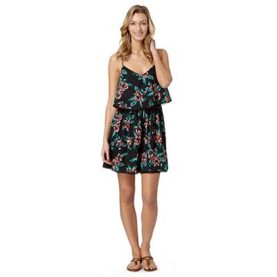 Beach Collection Black floral cami dress - . -