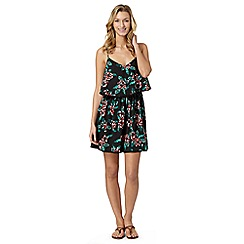 Beach Collection - Black floral cami dress