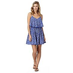 Beach Collection - Blue floral cami dress