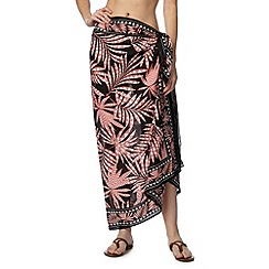 Beach Collection - Coral palm tree print sarong