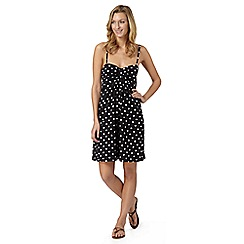 Beach Collection - Black spotted jersey dress