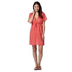 Beach Collection - Coral cotton kaftan