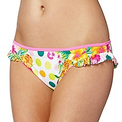 Floozie by Frost French - Pink tropicana spot bikini bottoms