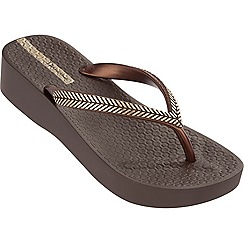 Ipanema - Brown wreath flip flops